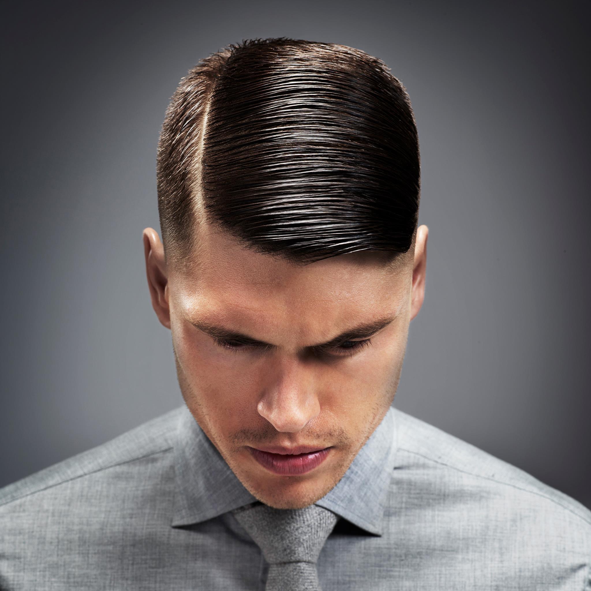 Mens part haircut