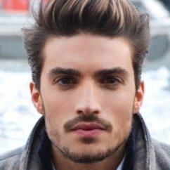 Мужские причёски на густые волосы